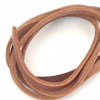 1 M Light Brown  5x2.5mm Flat Leather Cord